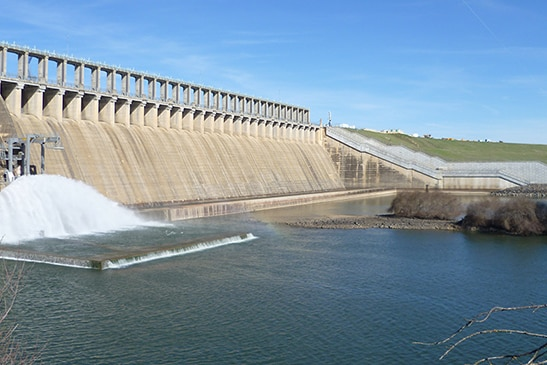Hume Dam is nearly full
