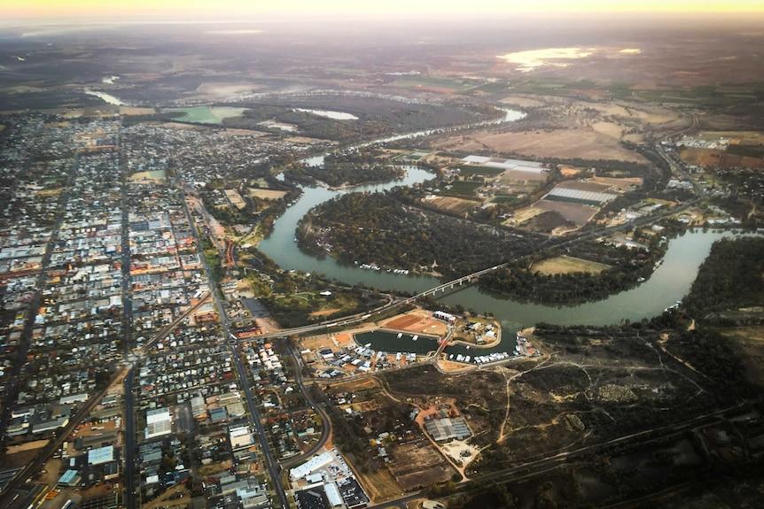 Mildura aerial view