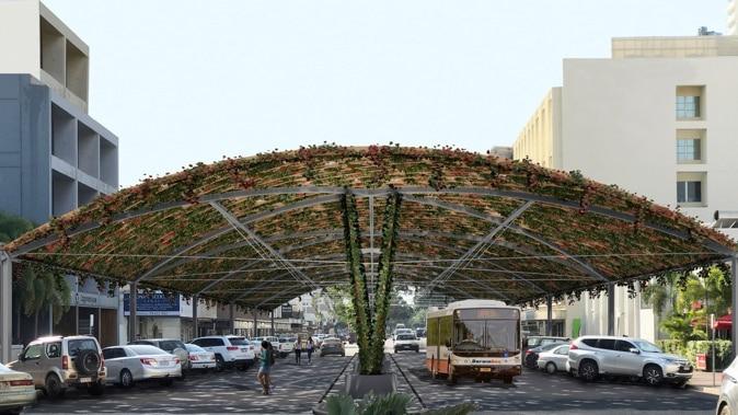 Design of a canopy structure in the Darwin CBD.