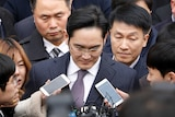Samsung Group chief, Jay Y Lee, leaves after attending a court hearing