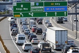 congestion on the Westgate Freeway in Melbourne.