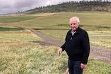 Tasmanian farmer Doug Dickenson