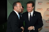 British Prime Minister David Cameron with Tony Abbott