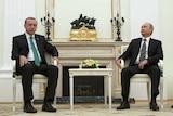 Vladimir Putin meets Tayyip Erdogan