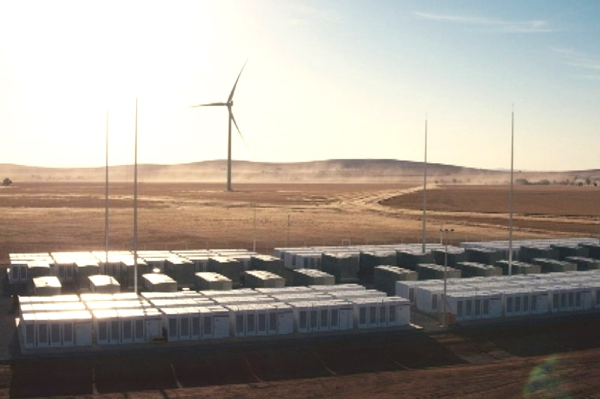 Tesla's battery infrastructure in the outback.
