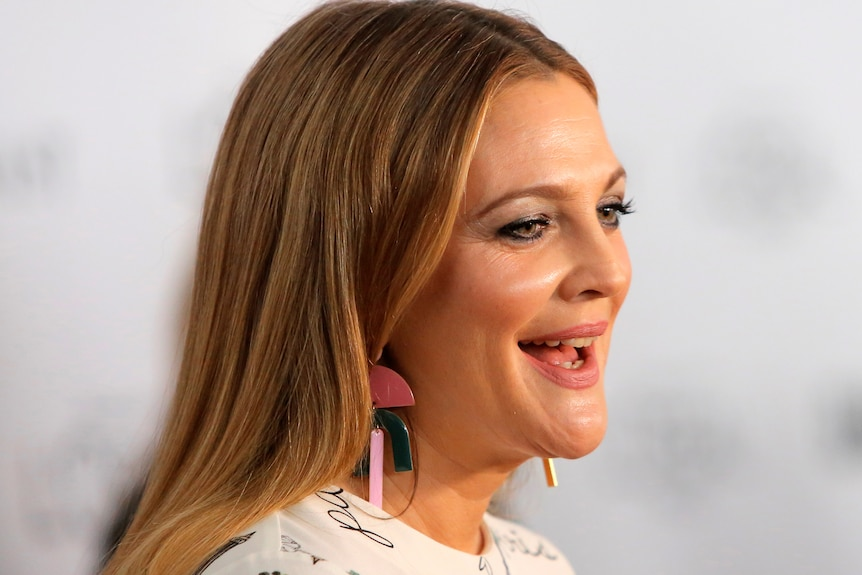Drew Barrymore on the red carpet.