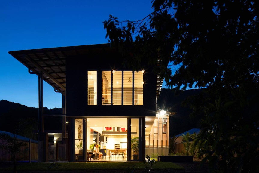 Energy efficient 'Big Small House' at Palm Cove in far north Queensland.