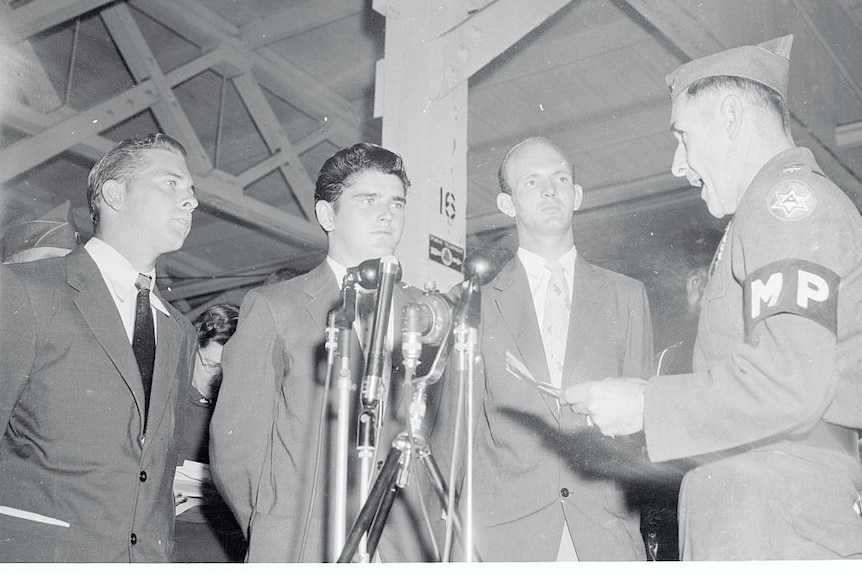 Three former POW's who refused to return to the US after Korean Armistice.