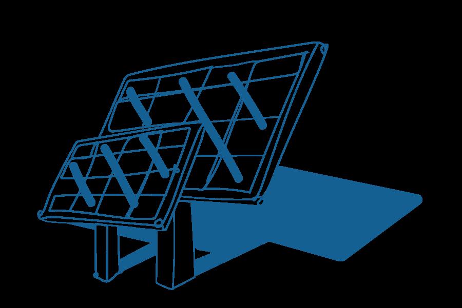 An illustration of solar panels.