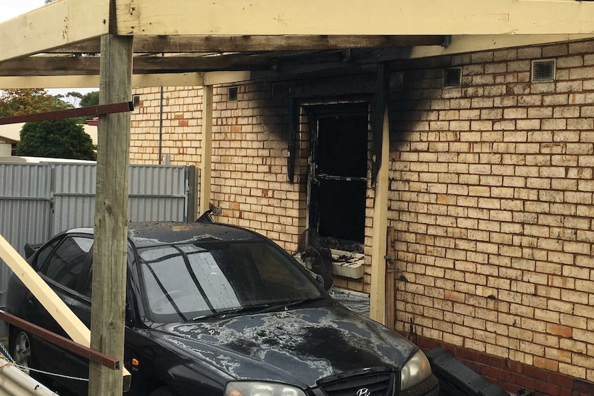 Fire in Adelaide's north