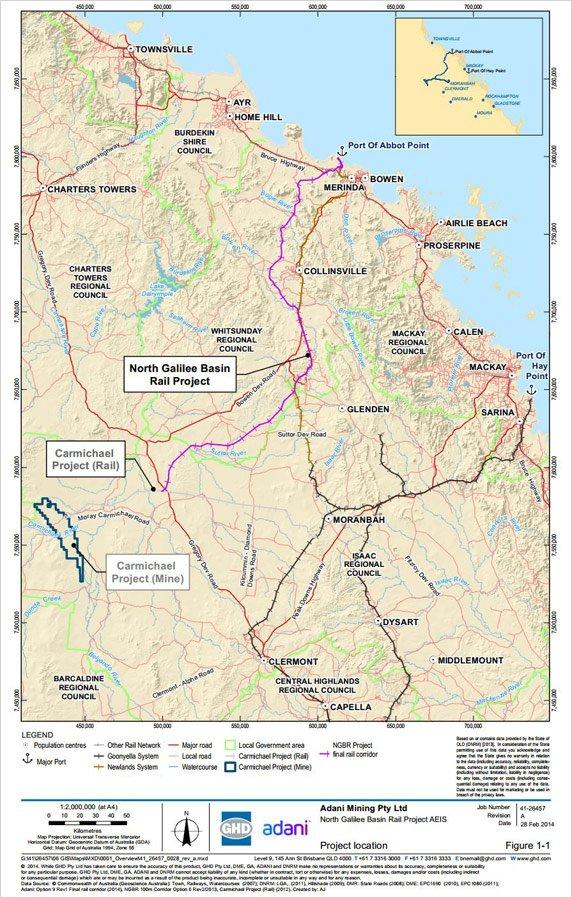 The Adani Group's $16 billion Carmichael Coal Mine and Rail Project