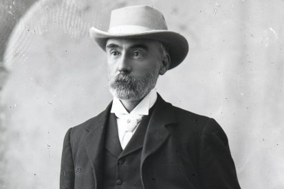 An historic photograph of CY O'Connor