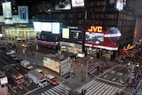 New York's Times Square is empty of tourists