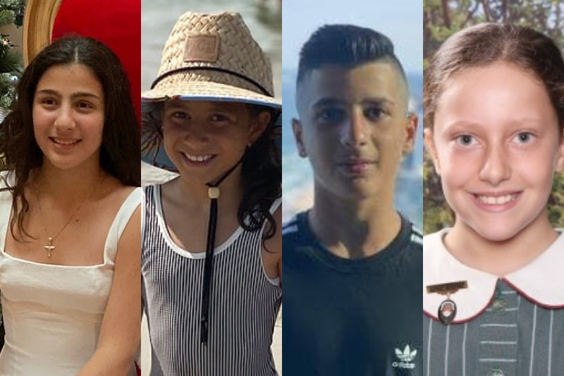 a girl in a bathing suit and wide brimmed hat at the beach, a boy in an adidas shirt, a girl in a white dress