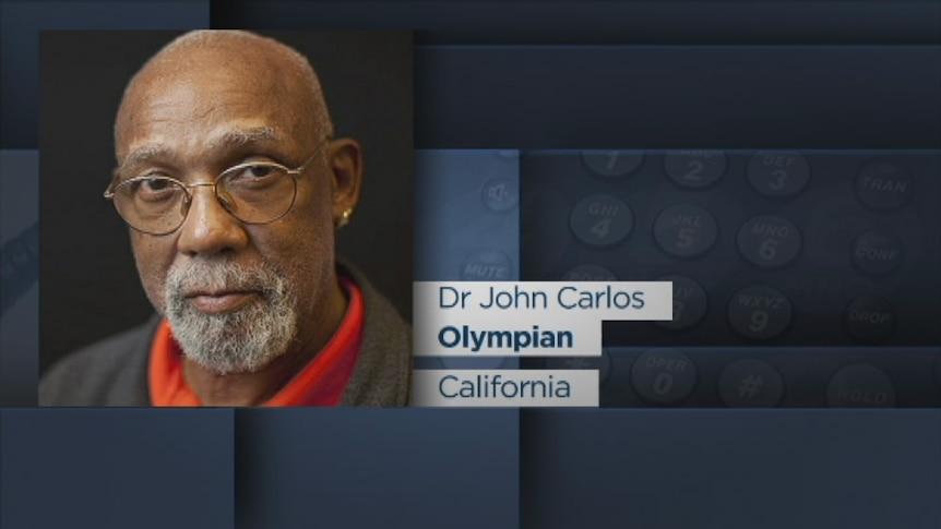 John Carlos talks to ABC News 24