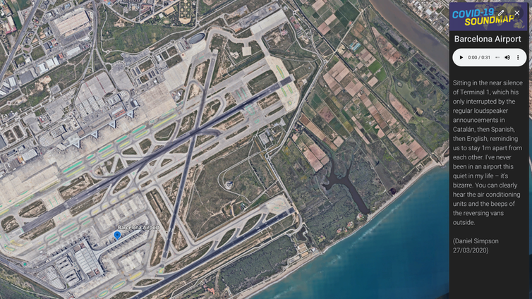 Aerial image of Barcelona airport