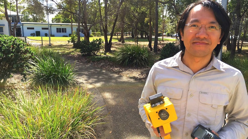 Researcher Stephen Xu will use a range of sensors to identify stress in crops and send SMS messages to growers