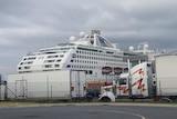 The Sun Princess docked in Brisbane