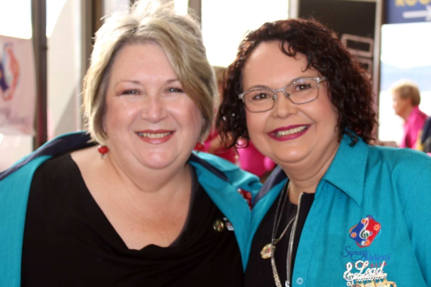 Anna-Marie Shew and Kate Hawkins live in different states but became friends through the Sweet Adelines