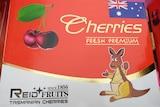 Fake Tasmanian-grown cherry box