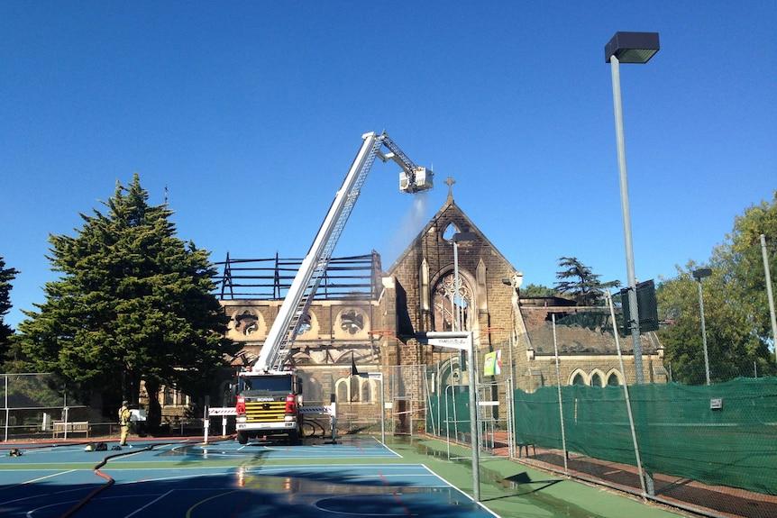 St James Catholic Church destroyed