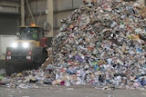 Waste pile at NAWMA