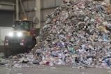 Waste pile at NAWMA