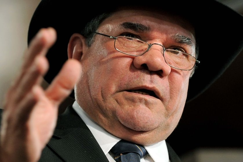 Australian of the Year Professor Mick Dodson talking at the National Press Club on Feb 17, 2009.