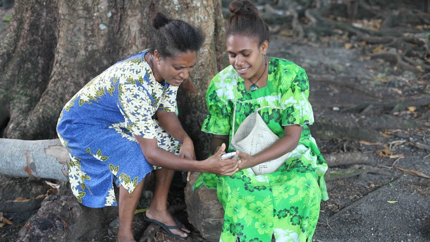 Vanuatu villagers connect to the internet