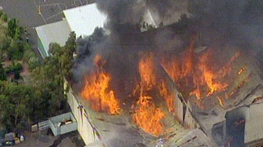 A large fire has broken out at a factory at Moorabbin.