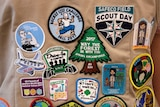 """Logos of the scouts read """"scout day"""", """"may the forest be with you"""" and """"bucket list challenge""""."""