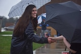 Danica Roem campaigns as voters head to the polls.