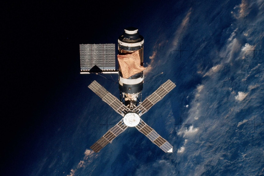 NASA's Skylab space station as seen from space.