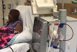 Brenda Dall Acqua on dialysis.