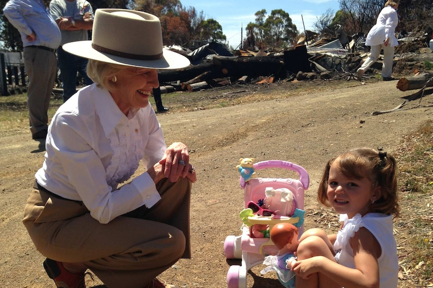 The Governor General has spent the day meeting Tasmanians affected by January's fires.