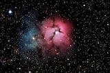 An image of the Trifid Nebula.