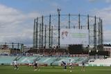 England trains on The Oval