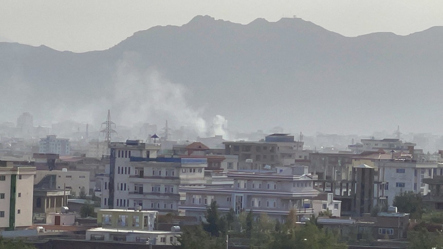 Smoke rises after an explosion in Kabul, Afghanistan