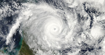 Cyclone satellite image