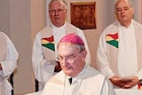 Bishop Morris (foreground) has been a priest since 1969 and the Toowoomba bishop for 18 years.