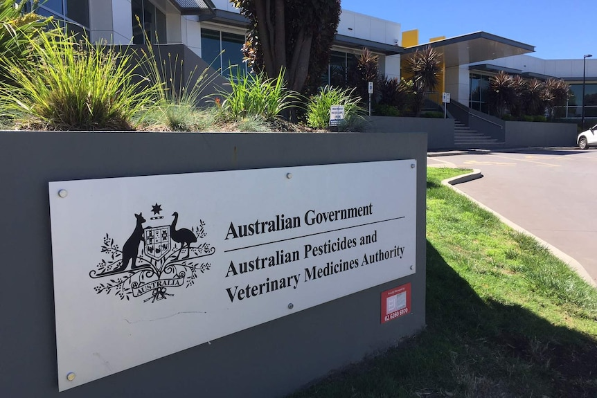 Exterior of the Australian Pesticides and Veterinary Medicines Authority in Canberra
