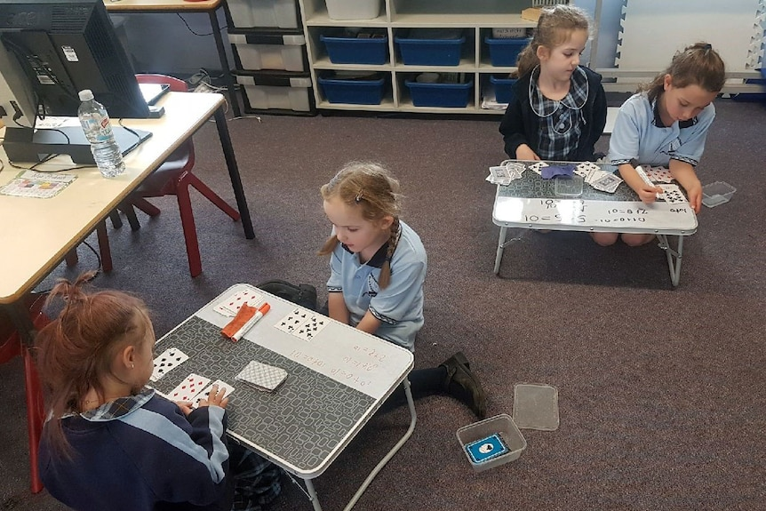 Students take part in testing at Shell Cove Public School