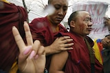 Pro-Tibet protests are growing around the world.