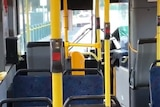 A still from footage captured during an Adelaide bus attack.