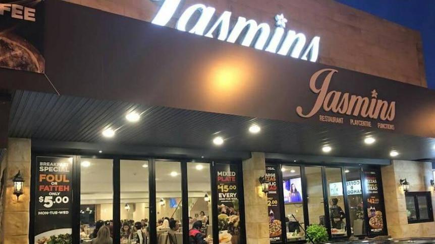 The restaurant front of Jasmins in Liverpool.