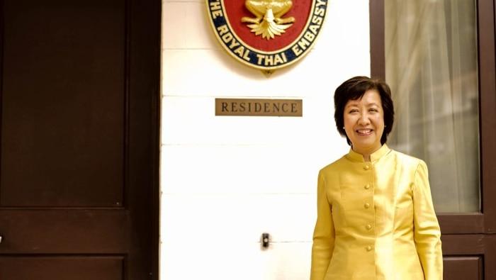 Thai Ambassador to Australia Nantana Sivakua at the Royal Thai Embassy in Canberra