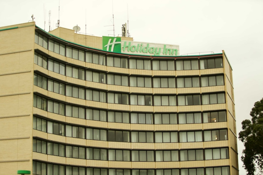 A Holiday Inn which is being used as a quarantine hotel.