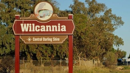 Wilcannia town sign