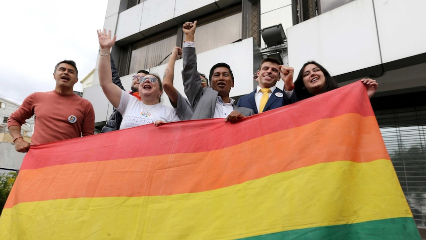 Ecuadorian LGBT leaders celebrate same sex marriage legislation