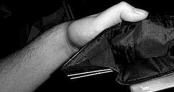 An empty wallet.